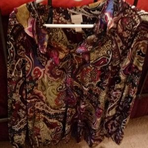 Chico's paisley multi-colored blouse